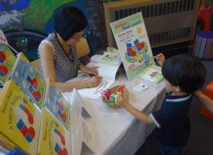 Children's book author and illustrator Noriko Matsubara's Author Visit at Harlow Library, Essex, UK