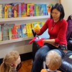 Children's book author and illustrator Noriko Matsubara's Author Visit at Leaf Cafe, Hertfordshire, UK