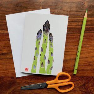 Asparagus Chigiri-e Card (S)