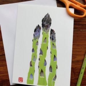 Asparagus Chigiri-e Card (M)