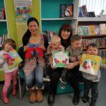 Children's book author and illustrator Noriko Matsubara's author visit at Consett Library, Country Durham, UK.
