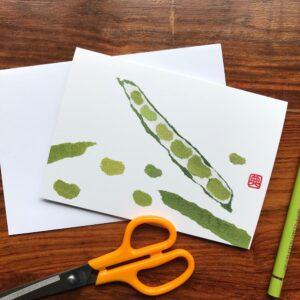 Beans Chigiri-e Card