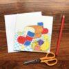 Bocchi and Pocchi Children's greeting card by Japanese artist Noriko Matsubara