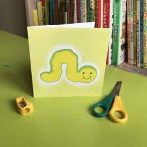 Caterpillar Card (S)