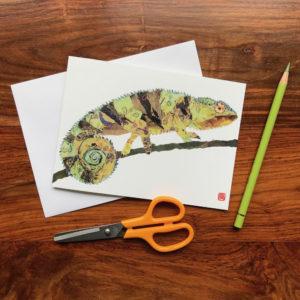 Chameleon Chigiri-e Card (M)