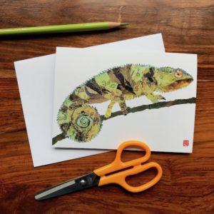 Chameleon Chigiri-e Card (S)