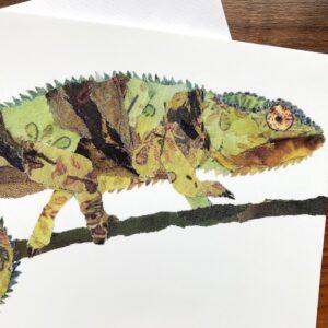 Chameleon Chigiri-e Card