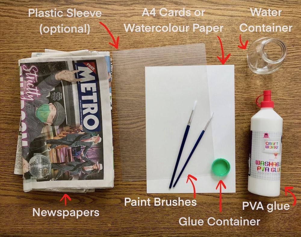 Materials you need for Chigiri-e Workshop