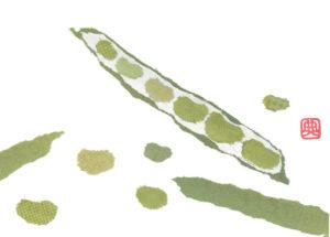 Beans Chigiri-e Greeting Card