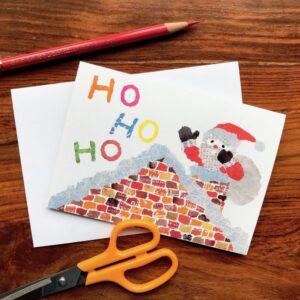 Xmas Ho Ho Ho Chigiri-e Card