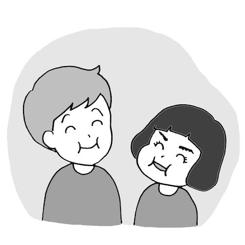 Ichi and Naomi from Noriko Matsubara's cartoons