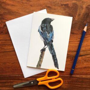 Magpie Chigiri-e Card (S)