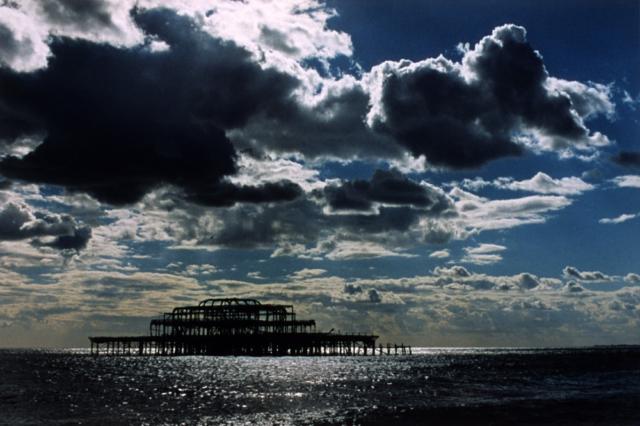 Old Pier, Brighton, C-print photograph by Japanese artist Noriko Matsubara, 2006.
