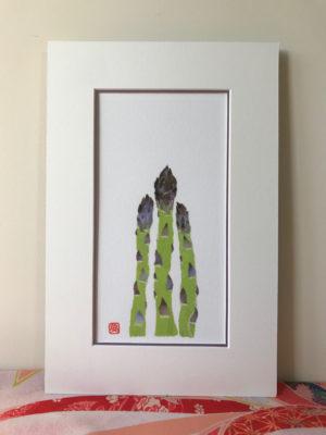 Asparagus Chigiri-e Print