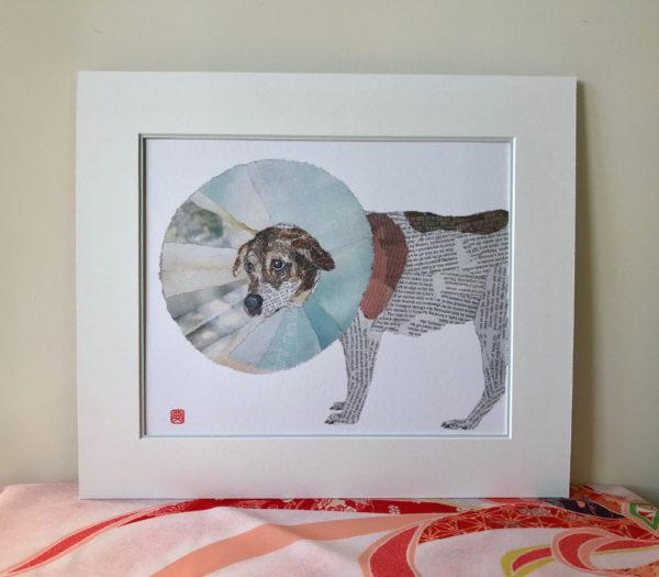 Perie Enfunnelled Chigiri-e Art print by Japanese artist Noriko Matsubara