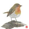 Robin Chigiri-e Art print by Japanese artist Noriko Matsubara