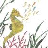 Seahorses Chigiri-e Art print by Japanese artist Noriko Matsubara