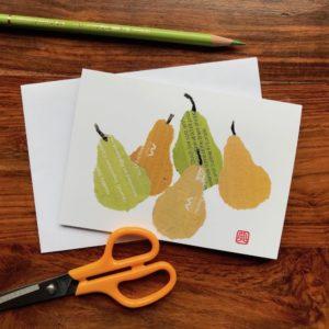 Pears Chigiri-e Card (S)
