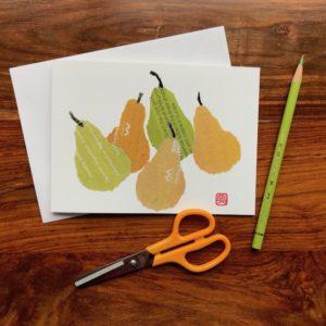 Pears Chigiri-e Card