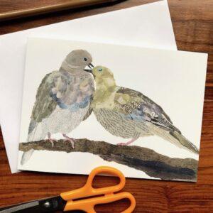 Pigeons Chigiri-e Card