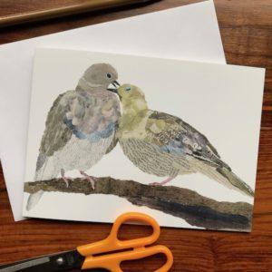 Pigeons Chigiri-e Card (M)