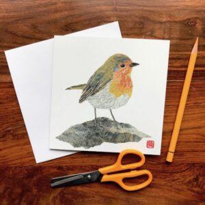 Robin Chigiri-e Card