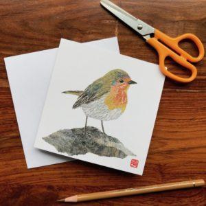 Robin Chigiri-e Card (S)