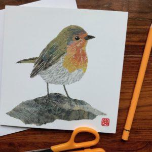 Robin Chigiri-e Card (M)