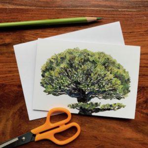 Tree Chigiri-e Card (S)