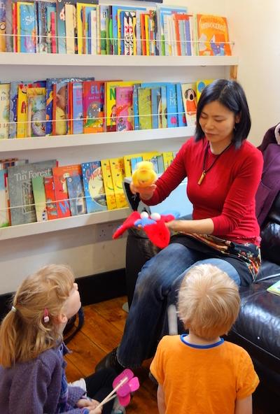 Children's author and illustrator Noriko Matsubara read her stories to children
